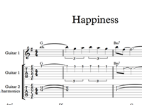 Изображение Happiness Sheet Music & Tabs