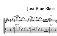Just Blue Skies Sheet Music & Tabs の画像