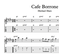Изображение Cafe Borrone Sheet Music & Tabs