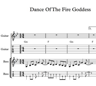 Imagen de Dance Of The Fire Goddess Sheet Music & Tabs