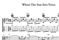 Изображение Where The Sun Sets Twice Sheet Music & Tabs