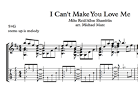 Изображение I Can't Make You Love Me Sheet Music & Tabs