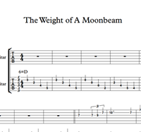 Изображение The Weight Of A Moonbeam - Sheet Music & Tabs