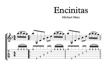 Image sur Encinitas - Sheet Music & Tabs