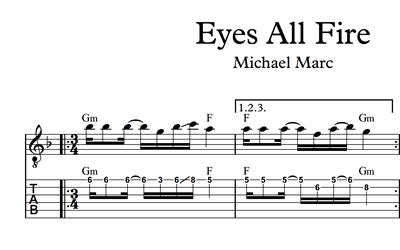 Bild von Eyes All Fire - Sheet Music & Tabs