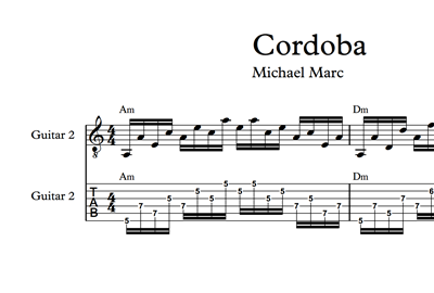 Picture of Cordoba - Sheet Music & Tabs