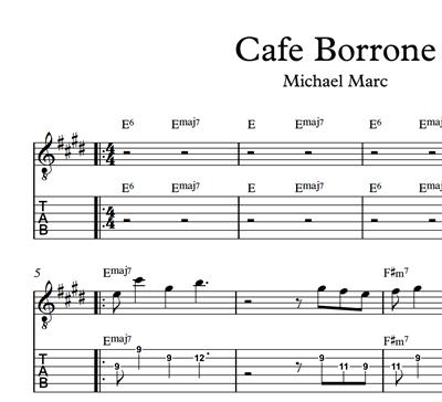 Bild von Cafe Borrone - Sheet Music & Tabs