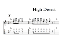 Bild von High Desert - Sheet Music & Tabs