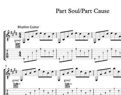 Bild von Part Soul Part Cause - Sheet Music & Tabs