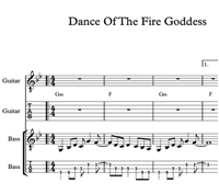 Bild von Dance Of The Fire Goddess - Sheet Music & Tabs