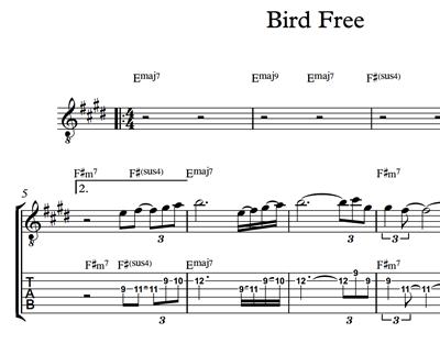 Immagine di Bird Free - Sheet Music & Tabs