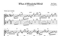 What A Wonderful World - Sheet Music & Tabs の画像