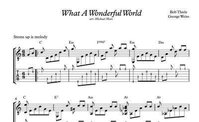 Picture de What A Wonderful World - Sheet Music & Tabs