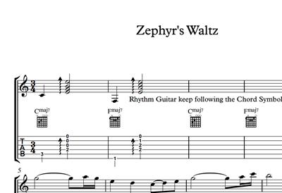 Снимка на Zephyr's Waltz - Sheet Music & Tabs