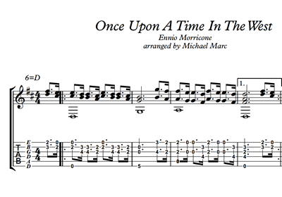 Hình ảnh của Once Upon A Time In The West - Sheet Music & Tabs