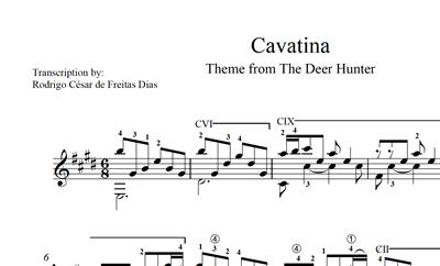 """图片 Cavatina (from """"The Deer Hunter"""") Sheet Music"""
