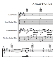 Across The Sea - Sheet Music & Tabs の画像