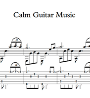 Bild von Calm Guitar Music - Sheet Music & Tabs