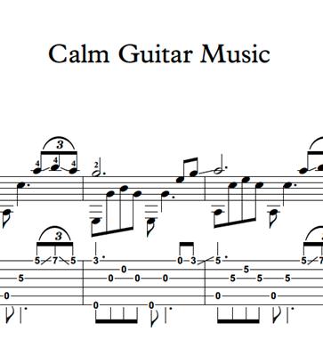 Picture de Calm Guitar Music - Sheet Music & Tabs