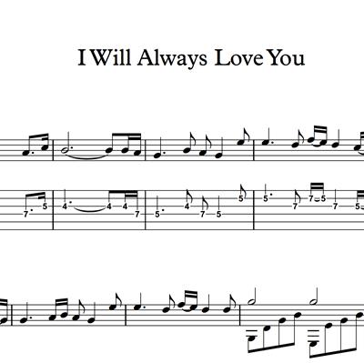 Bild von I Will Always Love You - Sheet Music & Tabs