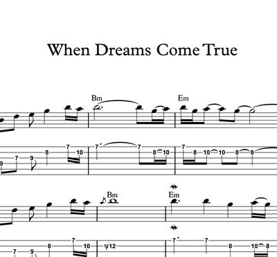 Снимка на When Dreams Come True - Sheet Music & Tabs