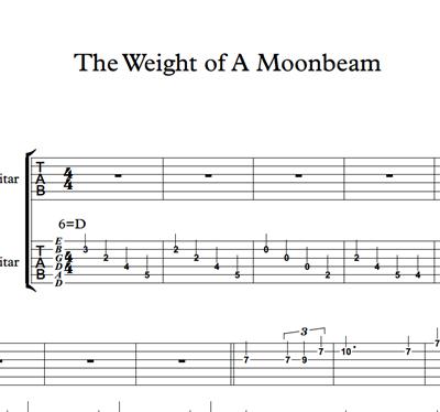 Снимка на The Weight Of A Moonbeam - Sheet Music & Tabs