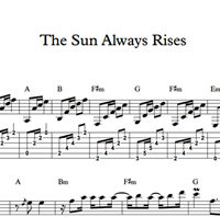 Bild von The Sun Always Rises - Sheet Music & Tabs