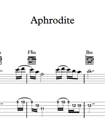 Снимка на Aphrodite - Sheet Music & Tabs