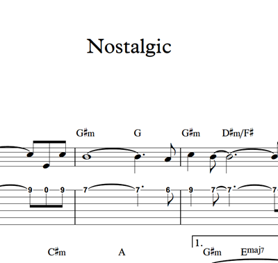 Immagine di Nostalgic - Sheet Music & Tabs