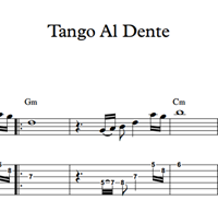 Immagine di Tango Al Dente - Sheet Music & Tabs
