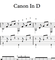 Picture of Canon In D (Pachelbel) Sheet Music & Tabs Download