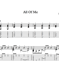 Bild von All Of Me - Sheet Music & Tabs