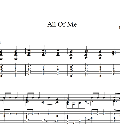 Picture de All Of Me - Sheet Music & Tabs