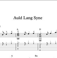 图片 Auld Lang Syne - Sheet Music & Tabs