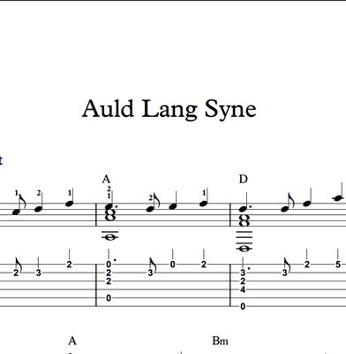 Bild von Auld Lang Syne - Sheet Music & Tabs