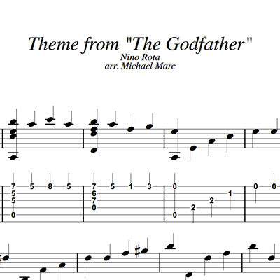 Picture of Godfather - Sheet Music & Tabs