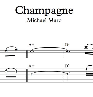 Bild von Champagne - Sheet Music & Tabs