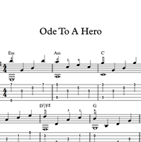 Immagine di Ode To A Hero - Sheet Music & Tabs