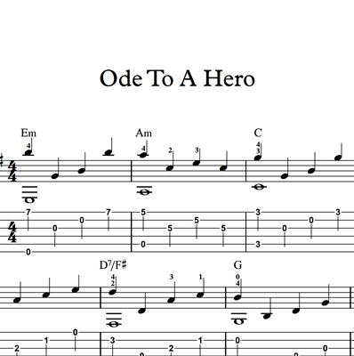 Bild von Ode To A Hero - Sheet Music & Tabs