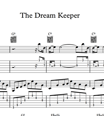图片 The Dream Keeper - Sheet Music & Tabs