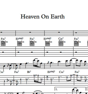 Bild von Heaven On Earth - Sheet Music & Tabs