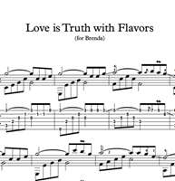 Imagen de Love Is Truth With Flavors - Sheet Music & Tabs