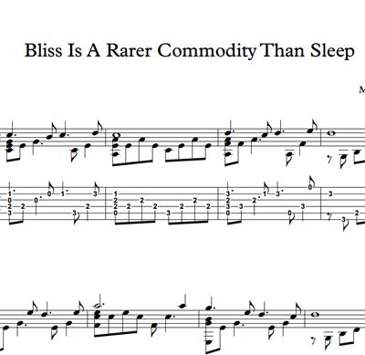 图片 Bliss Is A Rarer Commodity Than Sleep - Sheet Music & Tabs