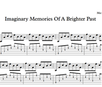 Снимка на Imaginary Memories Of A Brighter Past - Sheet Music & Tabs