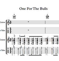 One For The Bulls - Sheet Music & Tabs の画像