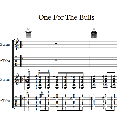 Снимка на One For The Bulls - Sheet Music & Tabs