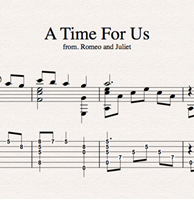 Picture de A Time For Us - Sheet Music & Tabs