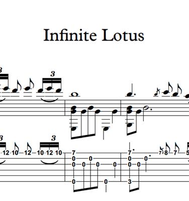 Picture de Infinite Lotus - Sheet Music & Tabs