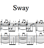 Picture of Sway Sheet Music & Tabs
