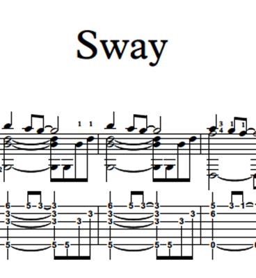 Bild von Sway Sheet Music & Tabs